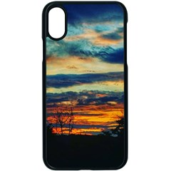 Blue Sunset Iphone Xs Seamless Case (black)