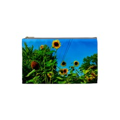 Bright Sunflowers Cosmetic Bag (small)