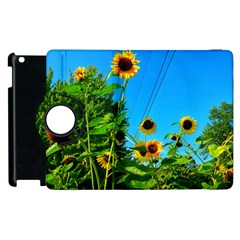 Bright Sunflowers Apple Ipad 3/4 Flip 360 Case by okhismakingart