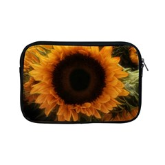 Single Sunflower Apple Ipad Mini Zipper Cases by okhismakingart