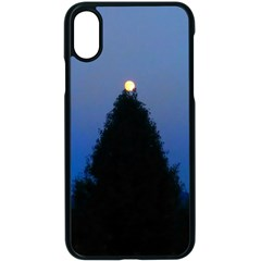 Tree And Moon Iphone Xs Seamless Case (black)