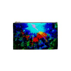 Psychedelic Spaceship Cosmetic Bag (small)