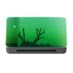Creepy Green Scene Memory Card Reader With Cf by okhismakingart
