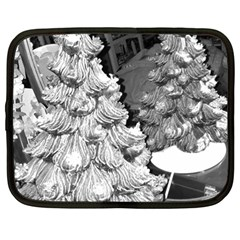 Black And White Christmas Netbook Case (large)