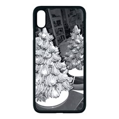 Black And White Christmas Iphone Xs Max Seamless Case (black)
