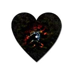 Moon Supernova Heart Magnet by okhismakingart