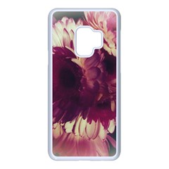 Purple Highlighted Flowers Samsung Galaxy S9 Seamless Case(white)