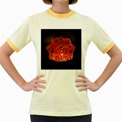 Glowing Stained Glass Lamp Women s Fitted Ringer T-shirt by okhismakingart