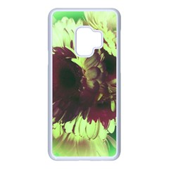 Green Glowing Flower Samsung Galaxy S9 Seamless Case(white)