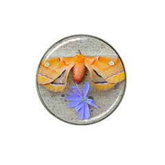 Moth And Chicory Hat Clip Ball Marker by okhismakingart