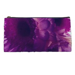 Blue Glowing Flowers Pencil Cases