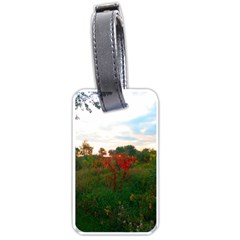 Red Weeds Luggage Tags (one Side)  by okhismakingart
