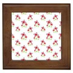 Cute Floral Drawing Motif Pattern Framed Tiles by dflcprintsclothing