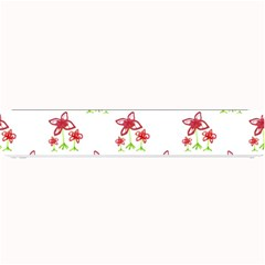 Cute Floral Drawing Motif Pattern Small Bar Mats by dflcprintsclothing