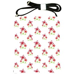 Cute Floral Drawing Motif Pattern Shoulder Sling Bag by dflcprintsclothing