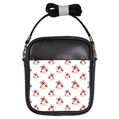 Cute Floral Drawing Motif Pattern Girls Sling Bag by dflcprintsclothing