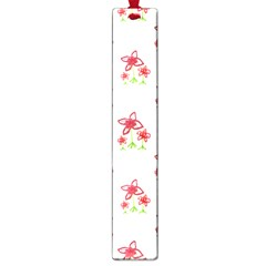 Cute Floral Drawing Motif Pattern Large Book Marks by dflcprintsclothing