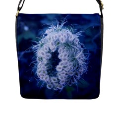 Light Blue Closing Queen Annes Lace Flap Closure Messenger Bag (l)