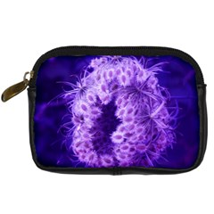 Dark Purple Closing Queen Annes Lace Digital Camera Leather Case