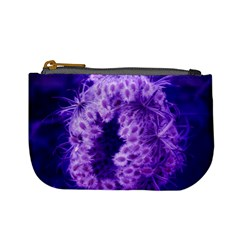Dark Purple Closing Queen Annes Lace Mini Coin Purse