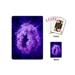 Dark Purple Closing Queen Annes Lace Playing Cards (mini)