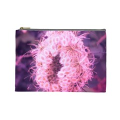 Pink Closing Queen Annes Lace Cosmetic Bag (large)