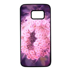 Pink Closing Queen Annes Lace Samsung Galaxy S7 Black Seamless Case