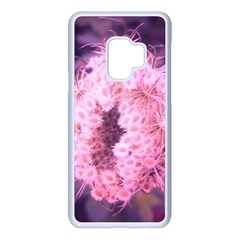 Pink Closing Queen Annes Lace Samsung Galaxy S9 Seamless Case(white) by okhismakingart