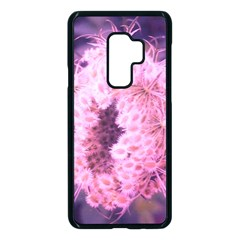 Pink Closing Queen Annes Lace Samsung Galaxy S9 Plus Seamless Case(black) by okhismakingart