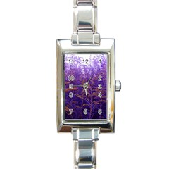 Yellow And Blue Goldenrod Rectangle Italian Charm Watch