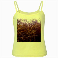 Yellow And Blue Goldenrod Yellow Spaghetti Tank