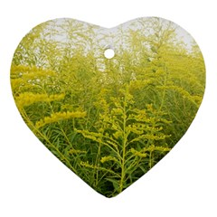 Yellow Goldenrod Ornament (heart)