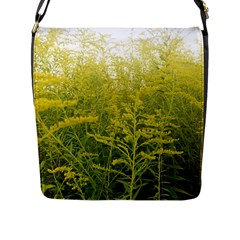 Yellow Goldenrod Flap Closure Messenger Bag (l)