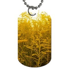 Gold Goldenrod Dog Tag (two Sides)