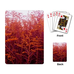 Red Goldenrod Playing Cards Single Design