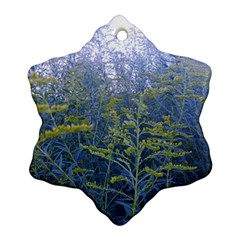 Blue Goldenrod Ornament (snowflake)