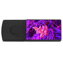 Pink And Blue Sideways Sumac Rectangular Usb Flash Drive