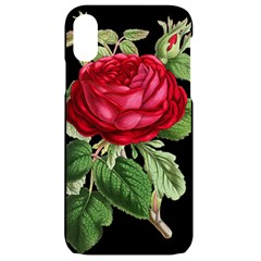 Rose   Vintage Iphone Xr Black Uv Print Case by WensdaiAddamns