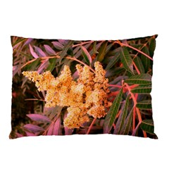Pale Yellow And Green Sideways Sumac Pillow Case (two Sides)
