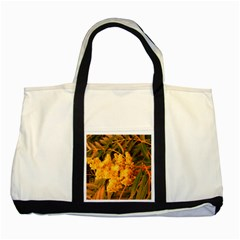 Yellow Sideways Sumac Two Tone Tote Bag