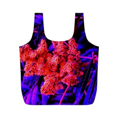 Red And Blue Sideways Sumac Full Print Recycle Bag (m)