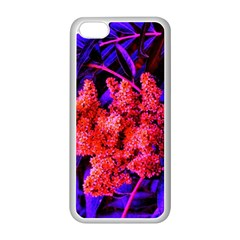 Green And Gold Sideways Sumac Iphone 5c Seamless Case (white)