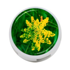 Yellow Sumac Bloom 4 Port Usb Hub (two Sides)