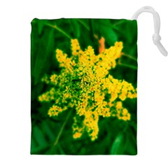 Yellow Sumac Bloom Drawstring Pouch (xxl)