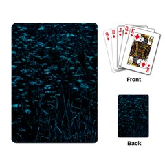 Dark Green Queen Anne s Lace Hillside Playing Cards Single Design