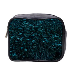 Dark Green Queen Anne s Lace Hillside Mini Toiletries Bag (two Sides)