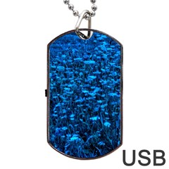 Blue Queen Anne s Lace Hillside Dog Tag Usb Flash (one Side)