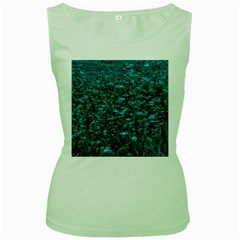 Blue Green Queen Annes Lace Hillside Women s Green Tank Top