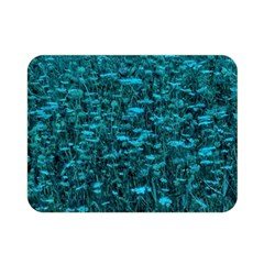 Blue Green Queen Annes Lace Hillside Double Sided Flano Blanket (mini)