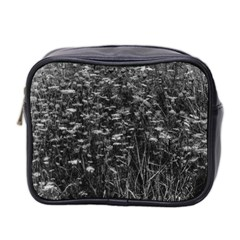 Black And White Queen Anne s Lace Hillside Mini Toiletries Bag (two Sides)